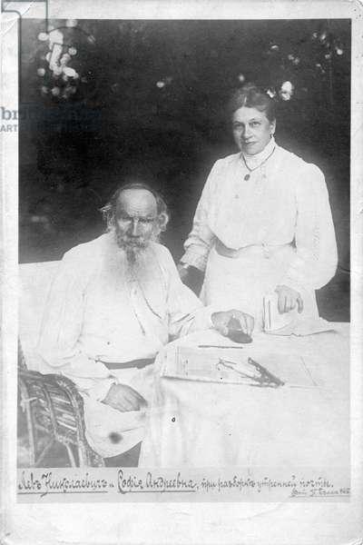 Leo Tolstoy and Countess Sophia, his wife