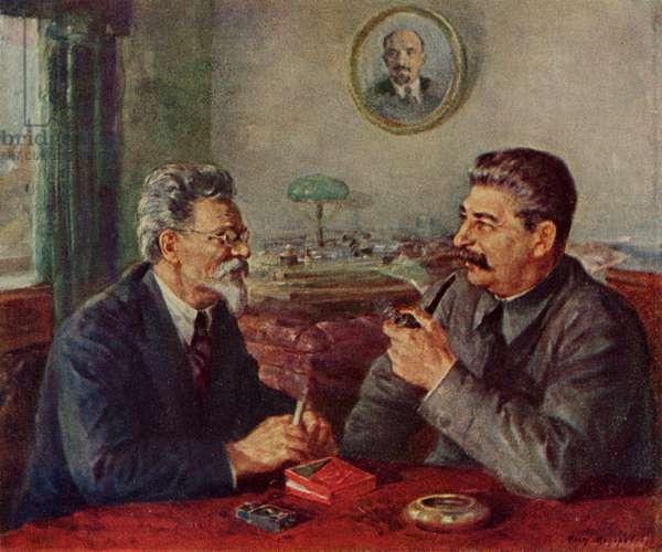 Joseph Stalin and Mikhail