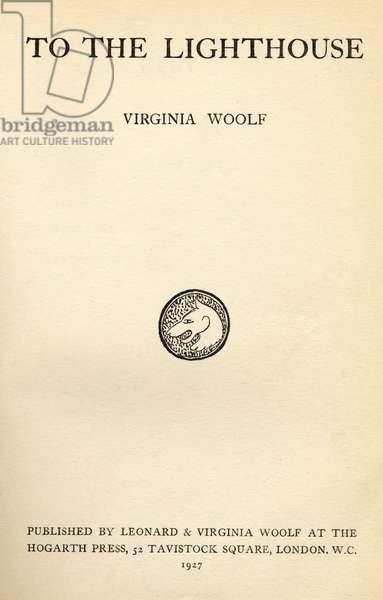 Virginia Woolf 's novel