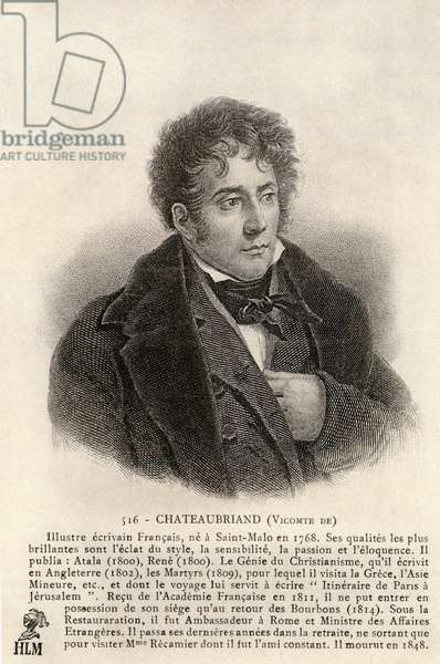 Viscount Chateaubriand French writer