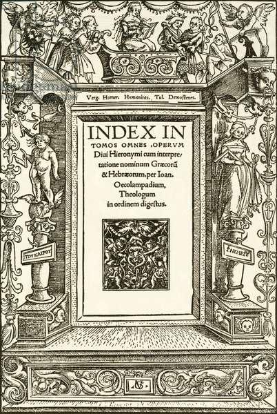 Humanitas, title-page woodcut by Urs Graf, 1513