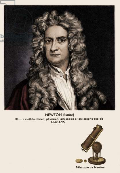 Isaac Newton portrait English
