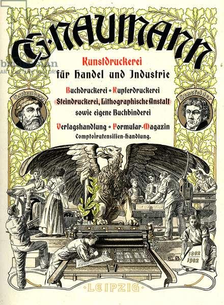 German advert for artistic printing