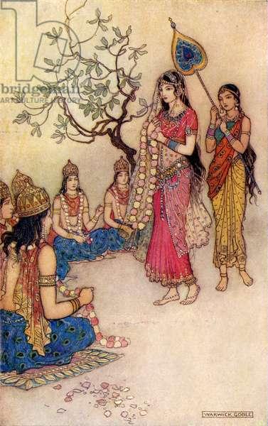 Damayanti choosing a husband