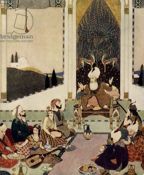 Sinbad the Sailor by Edmund Dulac, 1911 (screen print)