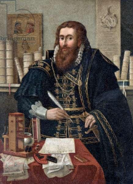 Portrait of Johannes Gutenberg, (c.1400-68)