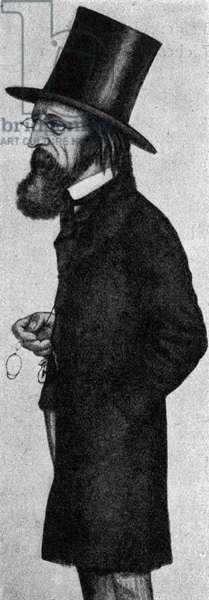 Alfred Tennyson in caricature