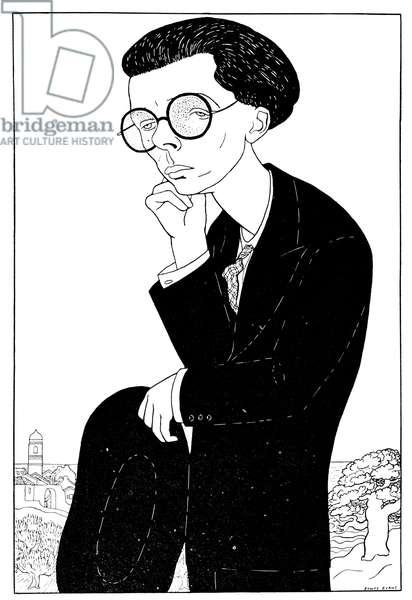 Aldous Huxley - caricature