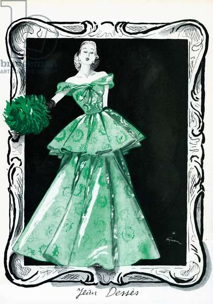 Forties fashion - drawing