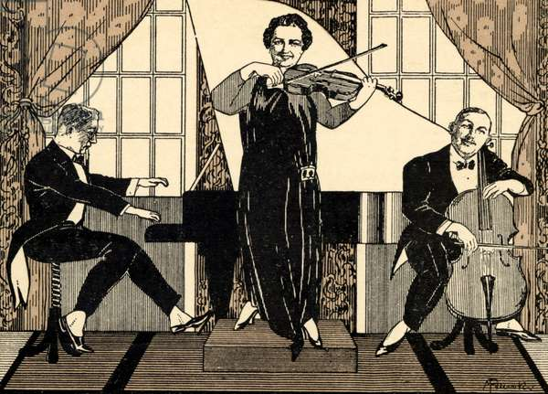 Trio of musicians performing