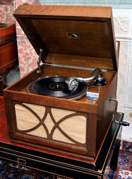 Portable gramophone from 1940s