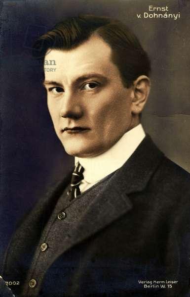 Ernst von Dohnanyi portrait