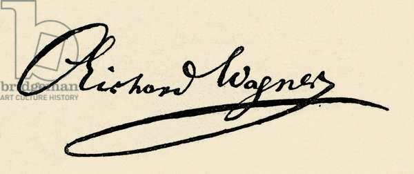 Richard Wagner 's signature, 1868