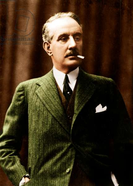 Giacomo Puccini with cigarette