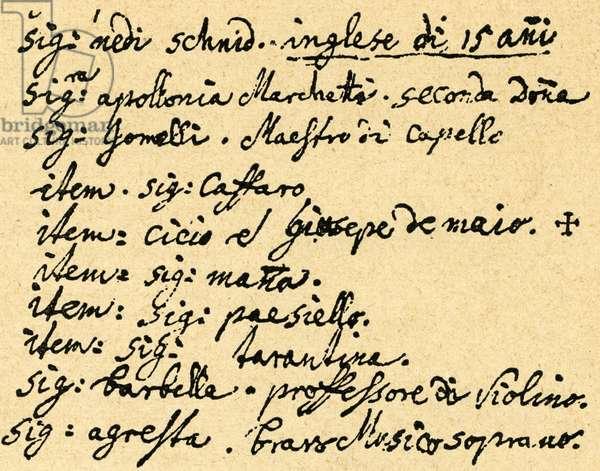 Mozart 's diary