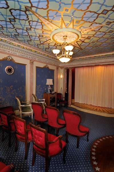 Private cinema interior with