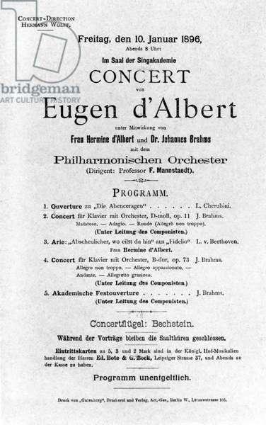 Eugen d'ALBERT - programme