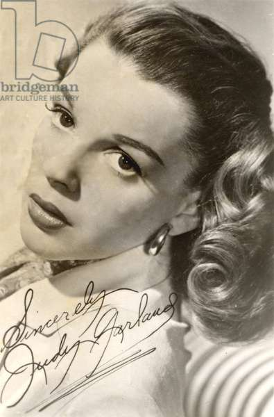 Judy Garland signed studio