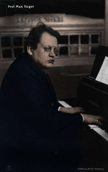 Max Reger at the piano