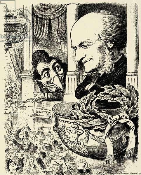Richard Wagner and Kikeriki - caricature