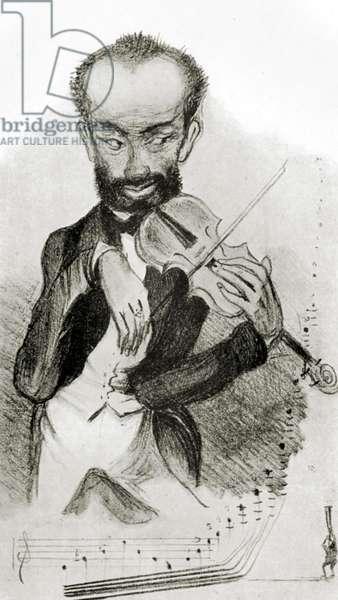 Henry Vieuxtemps - caricature