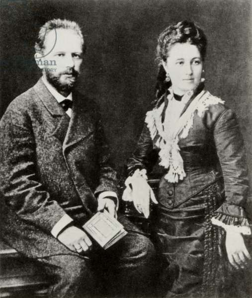 Pyotr Tchaikovsky & his wife