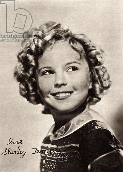 Shirley Temple portrait as