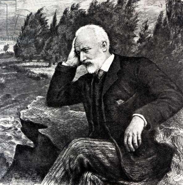 P I Tchaikovsky seated
