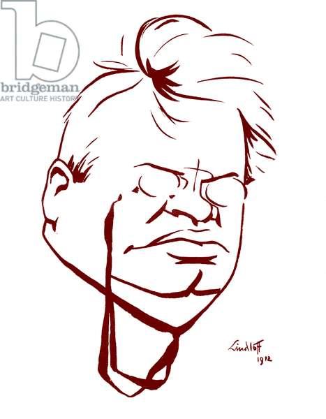 Max Reger caricature