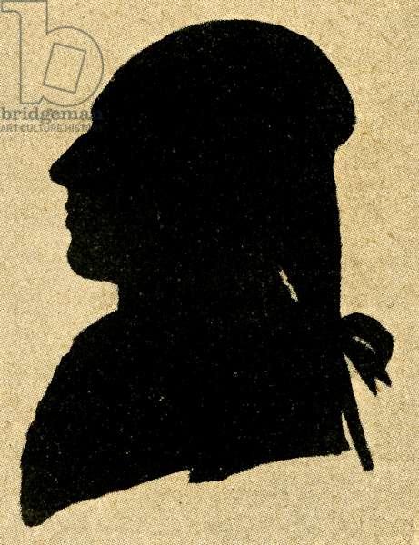 Silhouette of Stephano Mandini 1786