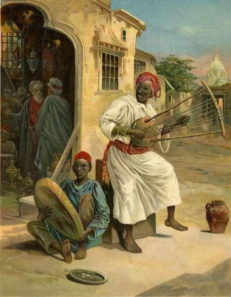 North African street musicians