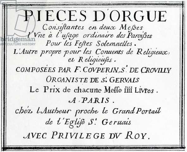 Titlepage of  Francois