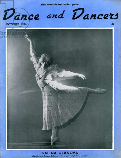 Galina Ulanova on cover of 'Dance and Dancers'