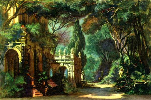 Set from Mozart 's opera 'Don Giovanni' by Eugen Quaglio