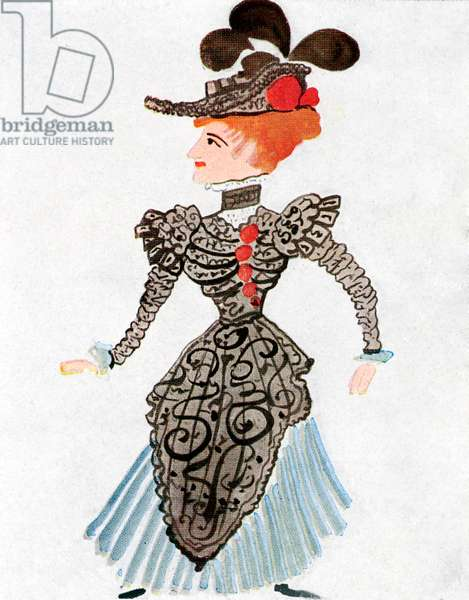 André Derain 's costume design  for 'La Concurrence'