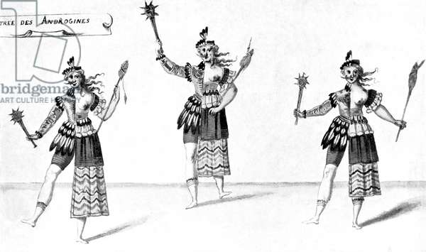 Daniel Rabel 's costume designs for the Hermaphrodites
