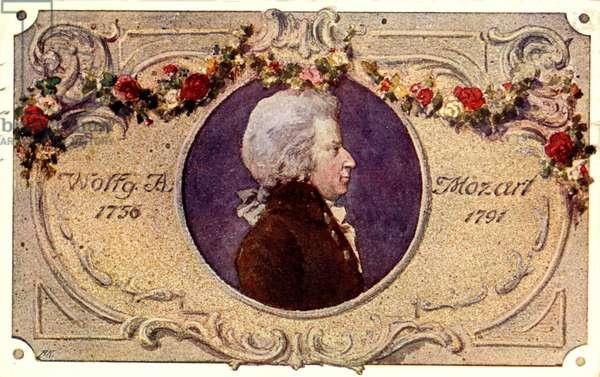 Wolfgang Amadeus Mozart portrait