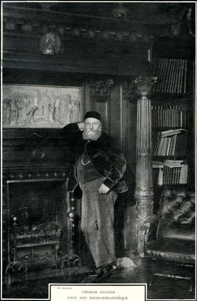 Charles GOUNOD in his library