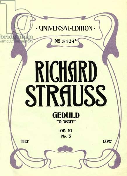 Richard Strauss title page