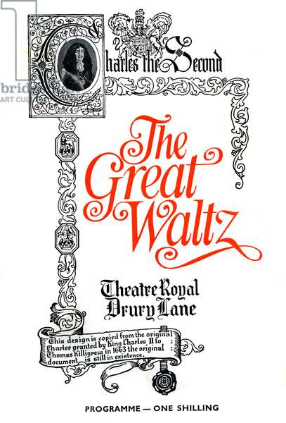 The Great Waltz programme cover