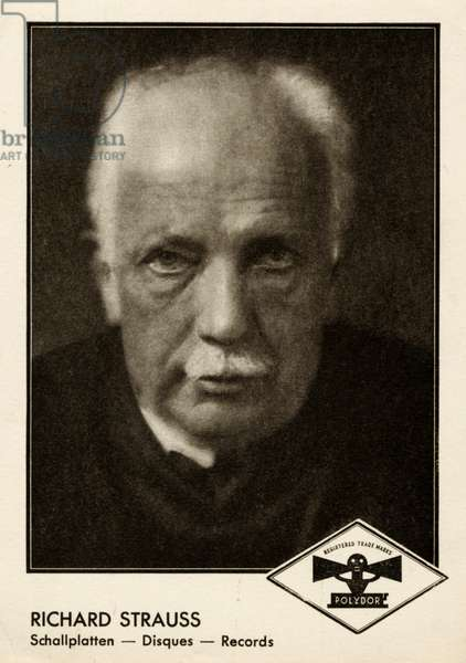 Richard Strauss portrait on