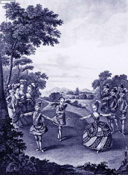 Marie-Antoinette dancing 1865