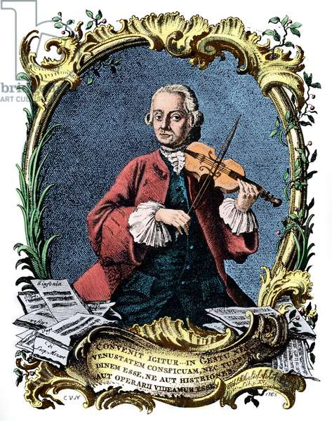 Leopold Mozart playing violin