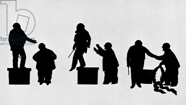 Hans Richter and Anton Bruckner-silhouette
