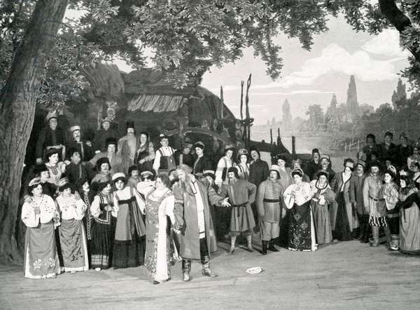 Felia Litvinne and Feodor Chaliapin in Rusalka, Opera by Alexander Dargomyzhsky, 1909