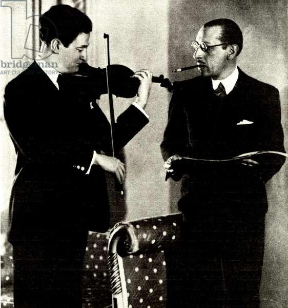 Igor Stravinsky and Samuel