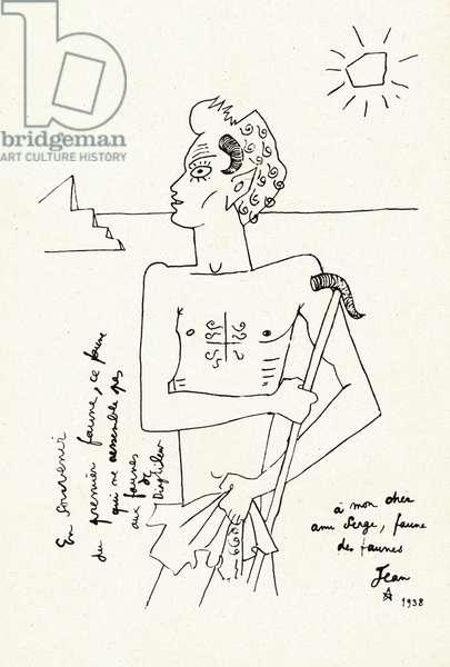 Drawing of Serge Lifar