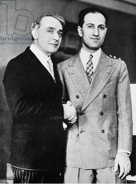George Gershwin and Serge Koussevitzky (conductor) in Boston