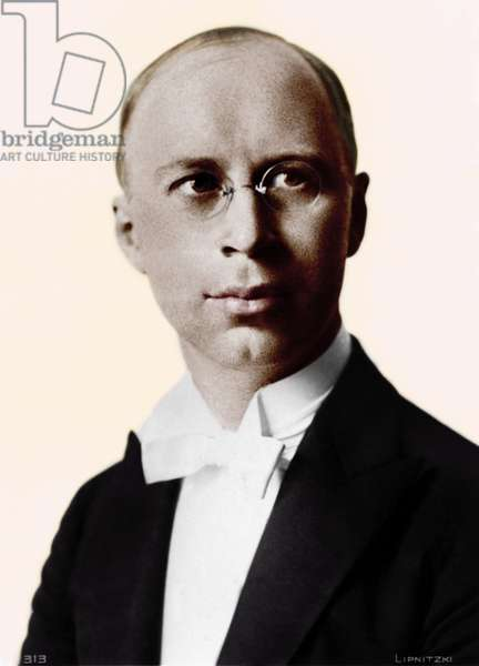 Sergei Prokofiev in concert dress