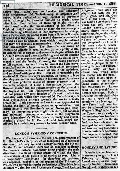 TCHAIKOVSKY - Review of